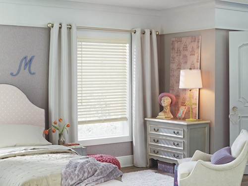 A girl's room with pastel patterns